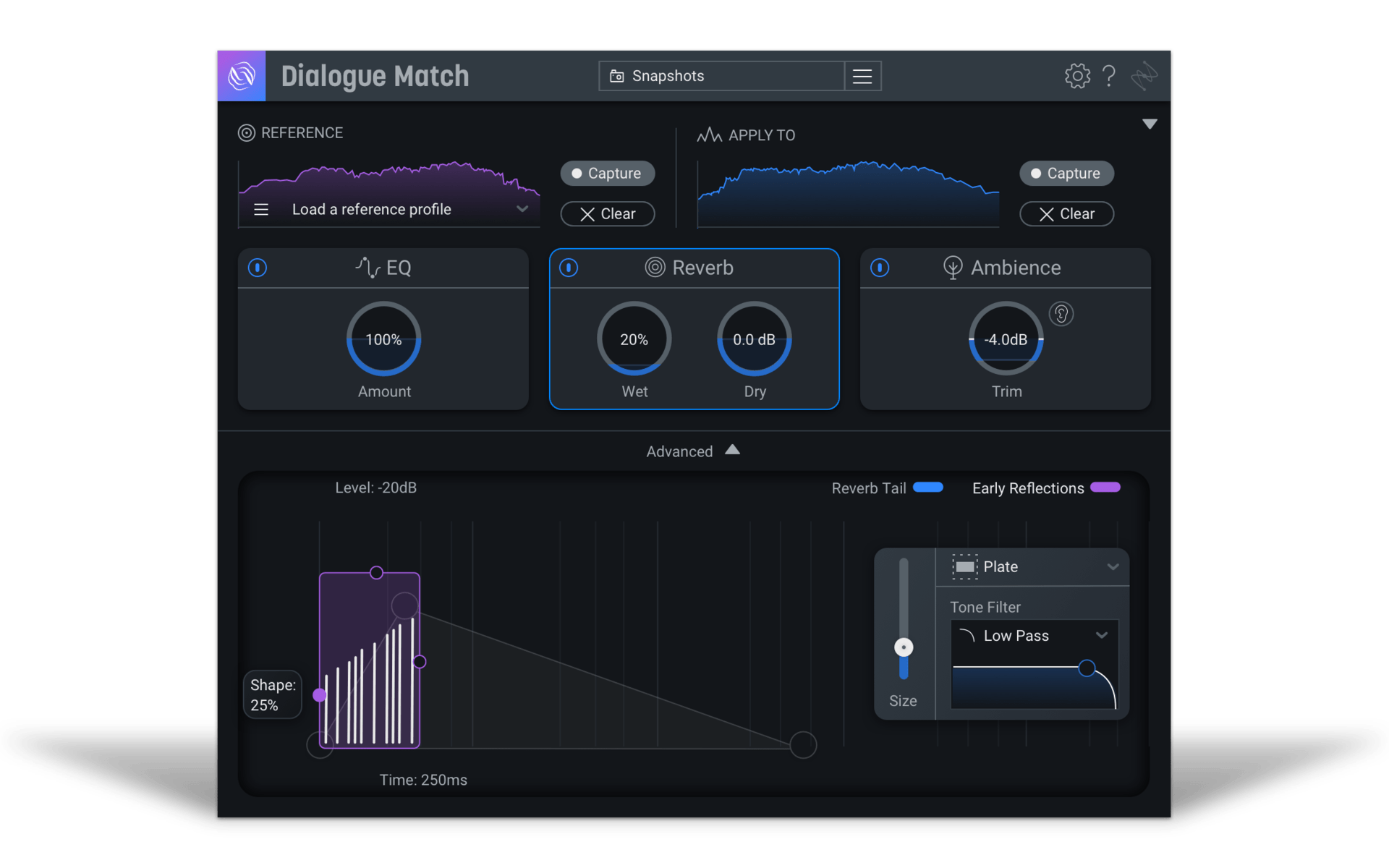 iZotope Dialogue Match Crossgrade from Exponential Surround Reverbs